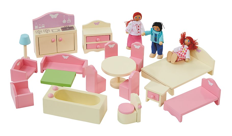 doll house furniture set wooden dolls house furniture sets ... CCLUYZG
