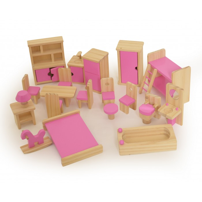 doll house furniture set wooden furniture for dolls house ... CNWQBBG