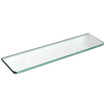 dolle tempered glass shelf - glassline rectangle shelf with round corners UBHVOBK