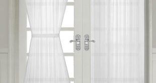 door curtains abri crushed sheer door curtain panel (single) QRYLEHC