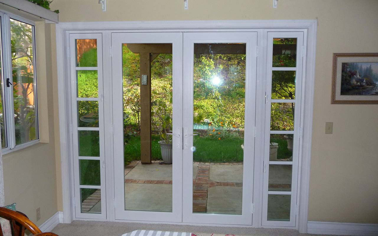 double patio doors french FPWGWOO