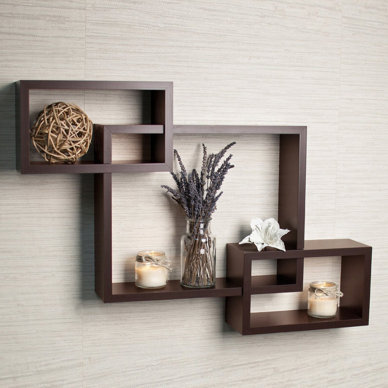 driftingwood wall shelf rack set of 3 intersecting wall shelves - WCVPIGZ