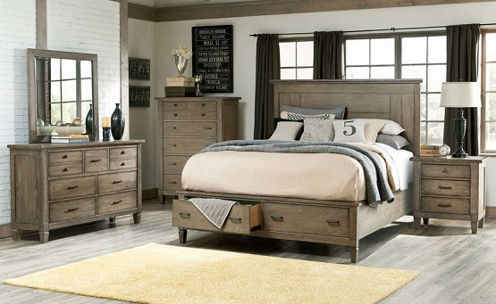 elegant rustic bedroom furniture set GISAHYE