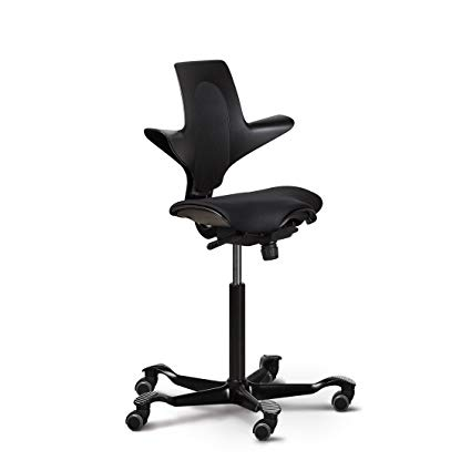 ergonomic office chairs capisco ergonomic office chair with saddle seat (puls plus, black with CITILCG
