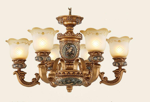 european style antique chandeliers lamps 6 lights bedroom dining room QJMREUL