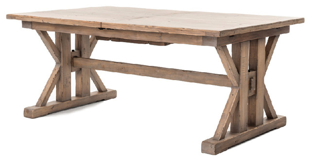 farmhouse dining table four hands furniture tuscan spring extension dining table, ... HRTTPSG