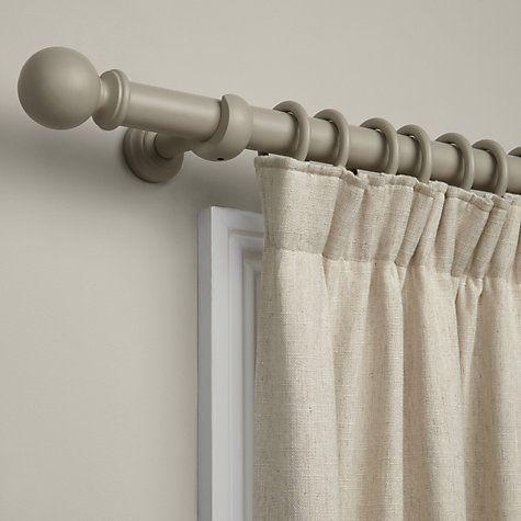 fashionable curtain poles buy john lewis curtain pole kit, grey, dia.35mm BGOIOMN