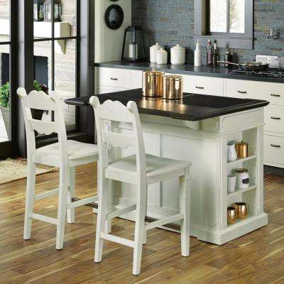 fiesta weathered white kitchen island with seating FYPYHGG