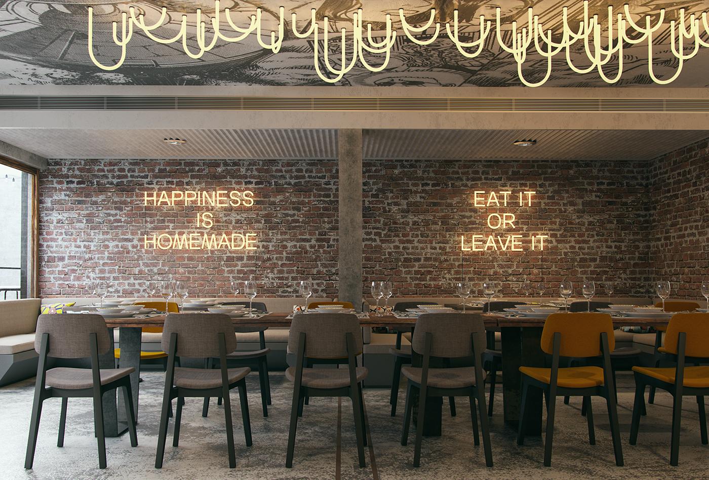 firefly restaurant interior design YENTGQI