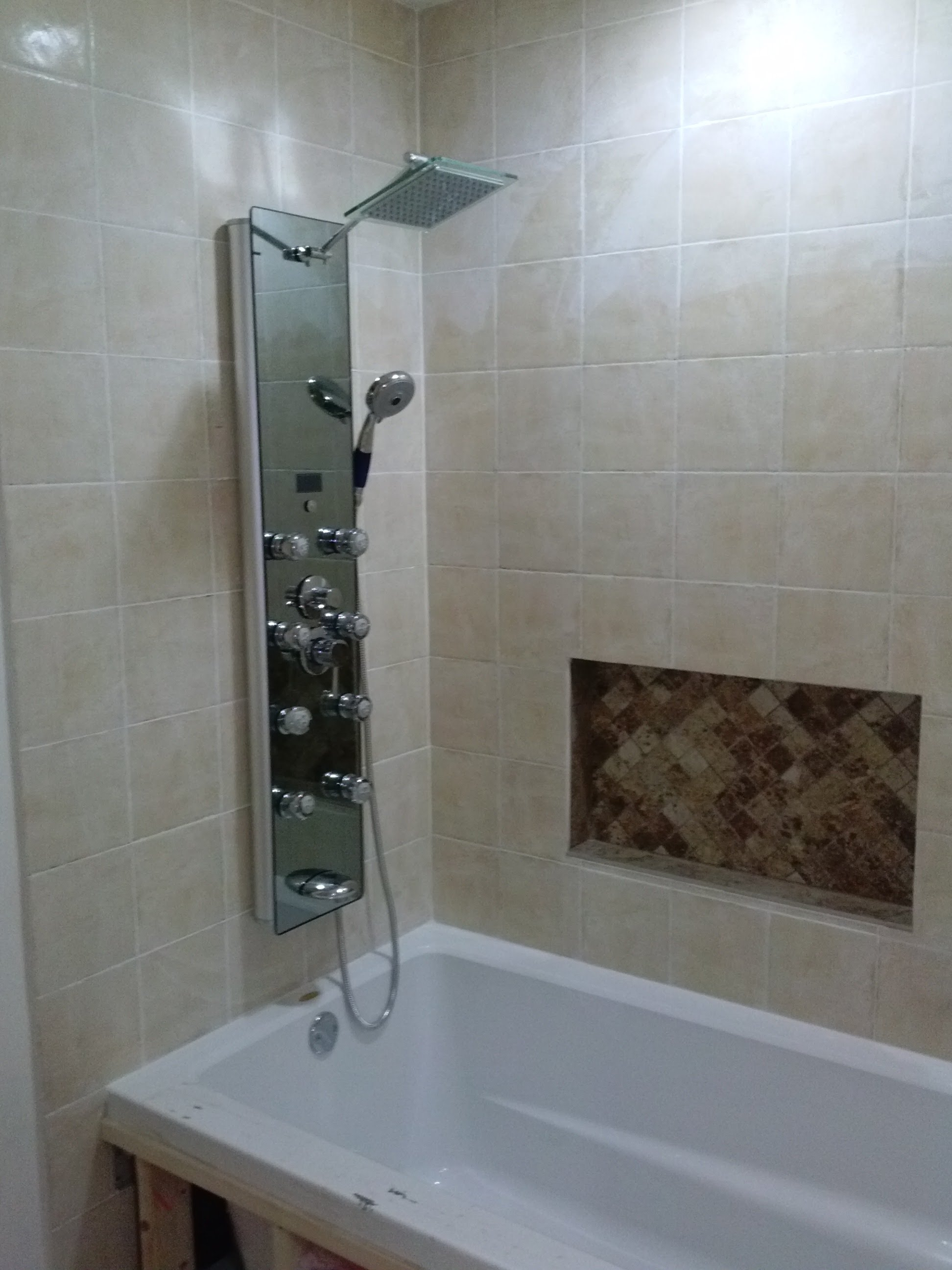 fitting bathroom panels blue ocean 52 IFVTFML
