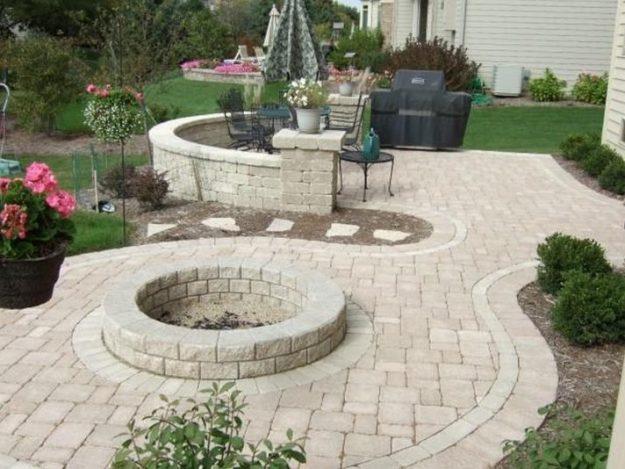flagstone patios stone patio ideas on a budget concrete backyard snazzy MKESPMV
