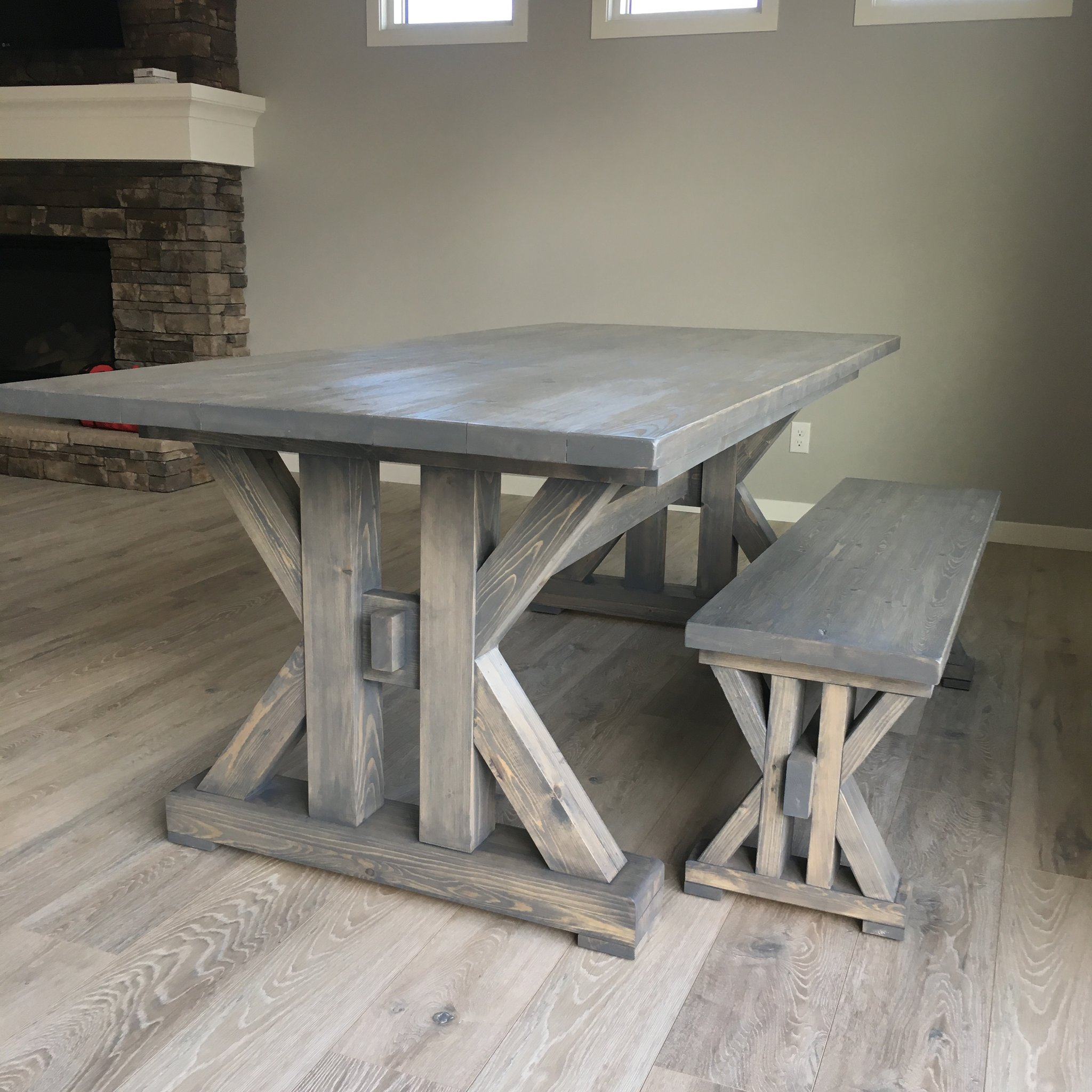 french farmhouse dining table for the kitchen RXVPOLA