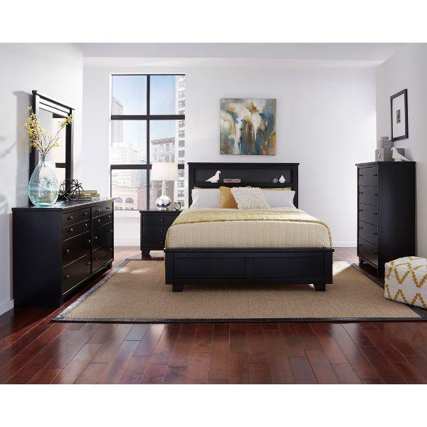 full bedroom sets ... black contemporary 6 piece full bedroom set - diego LSFJXSV