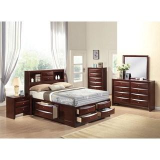 full bedroom sets ireland espresso 4-piece storage bedroom set NGFFNMX