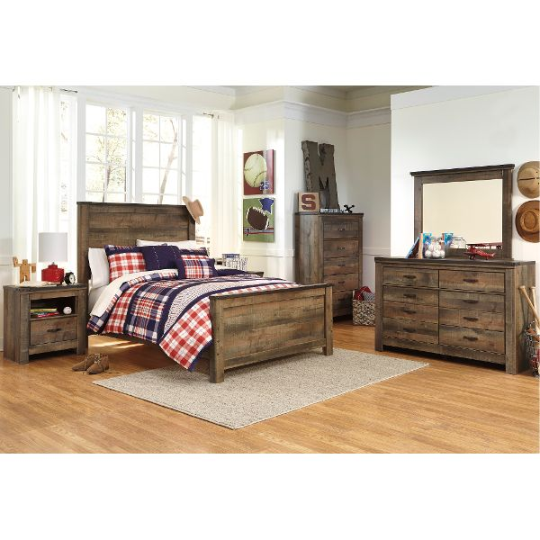 full bedroom sets ... rustic casual contemporary 6 piece full bedroom set - trinell UXTDATH