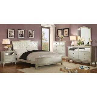 full bedroom sets silver orchid gerrard modern 4-piece crocodile silver bedroom set DETHLSC