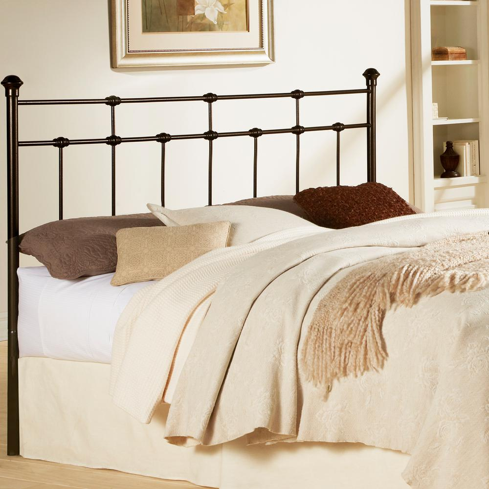 full size headboards fashion bed group dexter full-size metal headboard with decorative castings IRDORXQ