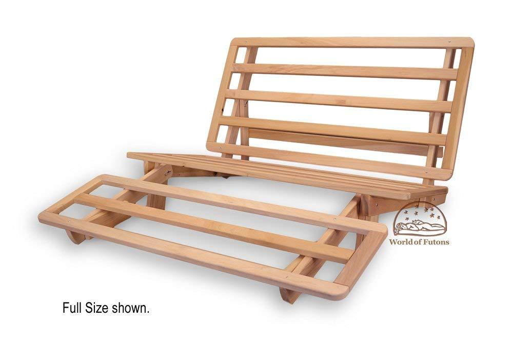 futon bed amazon.com: tri-fold hardwood futon frame - twin size: kitchen u0026 dining HRXGSKW