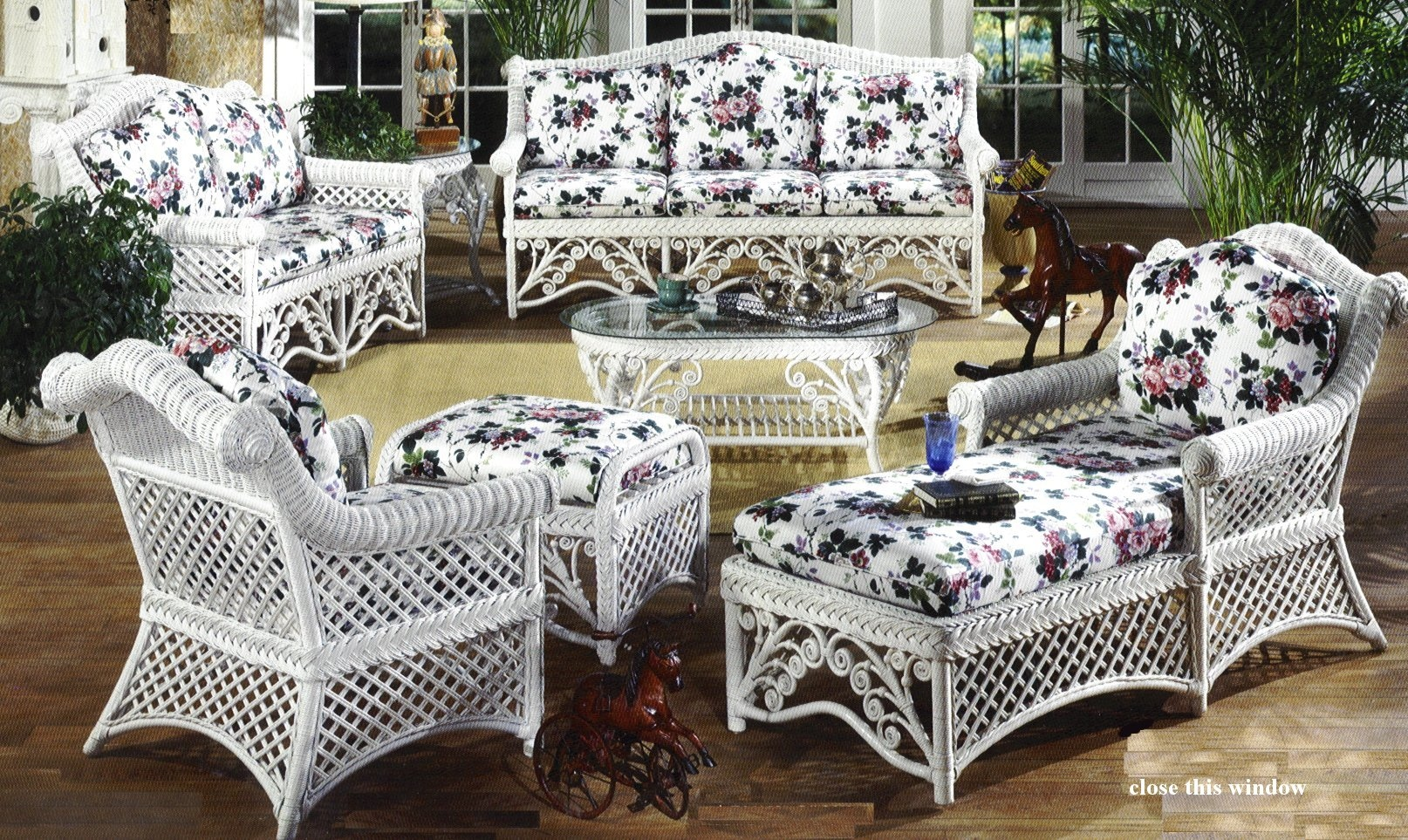 gazebo victorian wicker furniture IWVZQKF