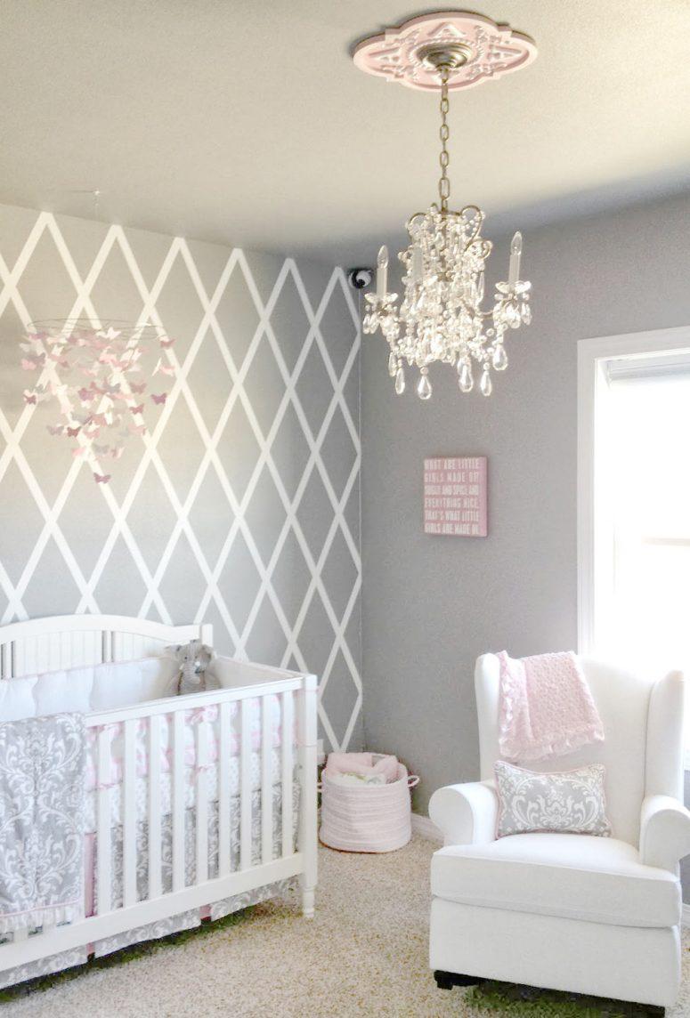 girl nursery ideas grey baby girl room ideas. gray baby girl nursery ZVUTIZS
