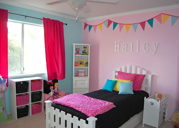 girls bedroom ideas if the little girl youu0027re decorating for is keen on pink, EHLZSUW