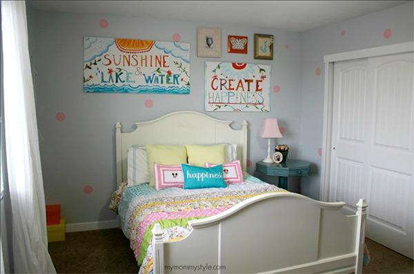 girls bedroom ideas use polka dots to make walls exciting and hang creative diy JOHWKJX
