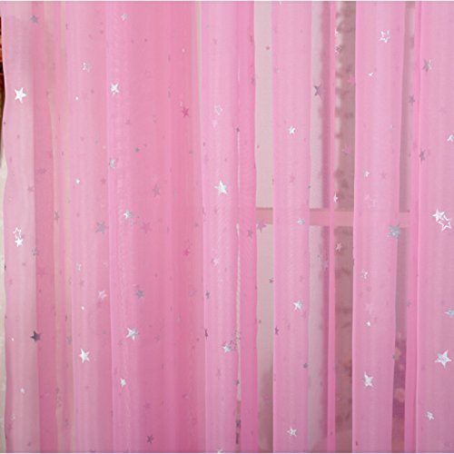 girls curtains amazon.com: zwb children bedroom sheer curtains star pattren curtains  lovely NFVVLXI