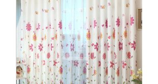 girls curtains korean pink floral girls bedroom jacquard heavy sweet floral curtains VVHUGKX