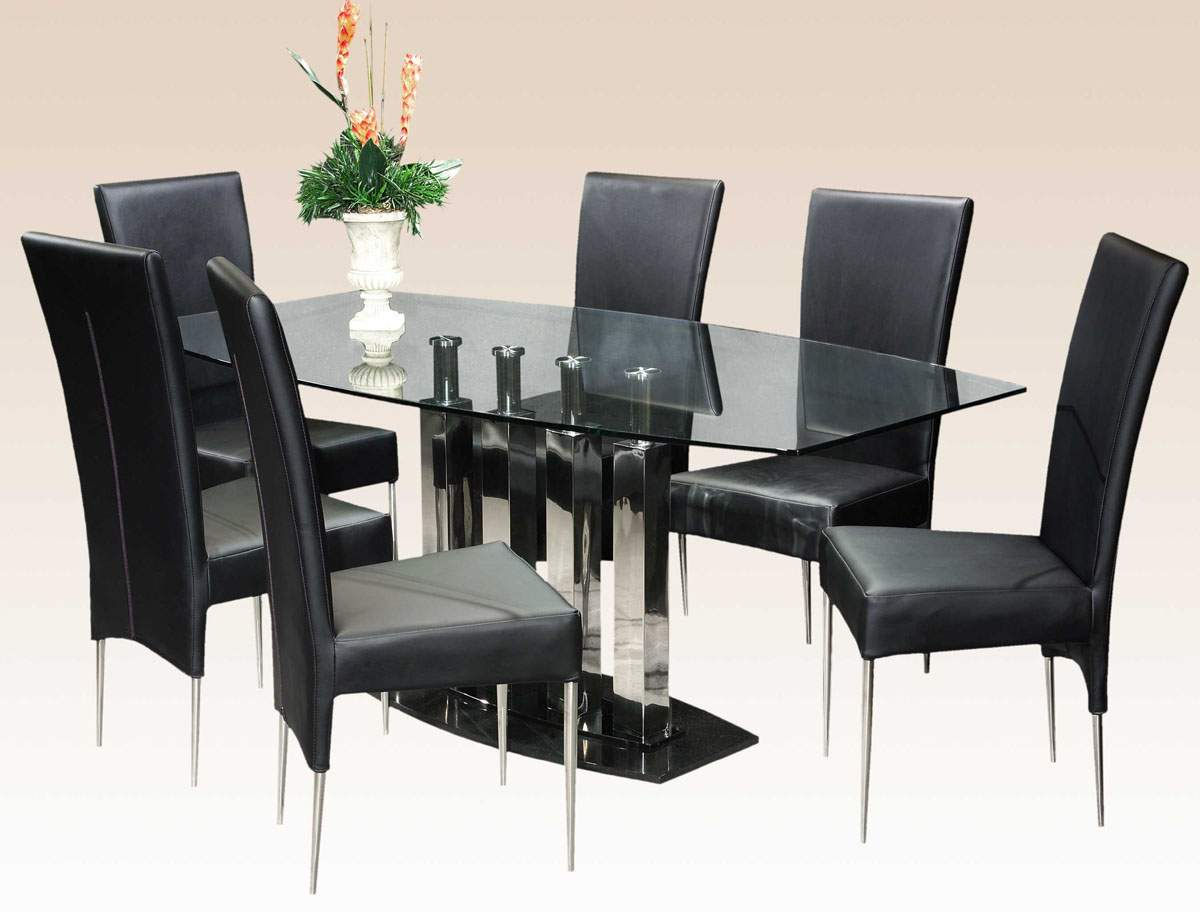 glass dining room table ... home extraordinary black glass table set 24 modern dining room KGWDJCH