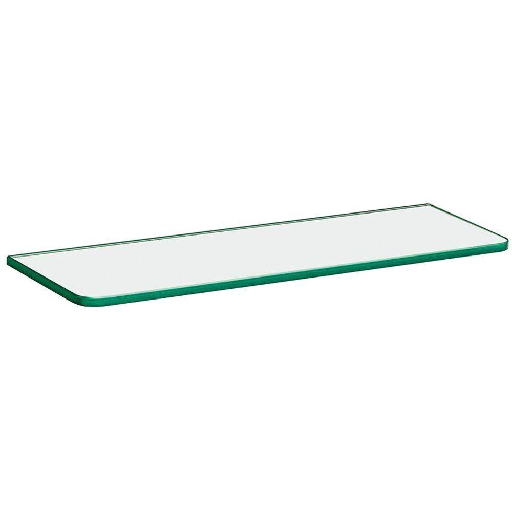 glass shelf dolle 16 in. x 5/16 in. x 5 in. standard line TVLKGXU