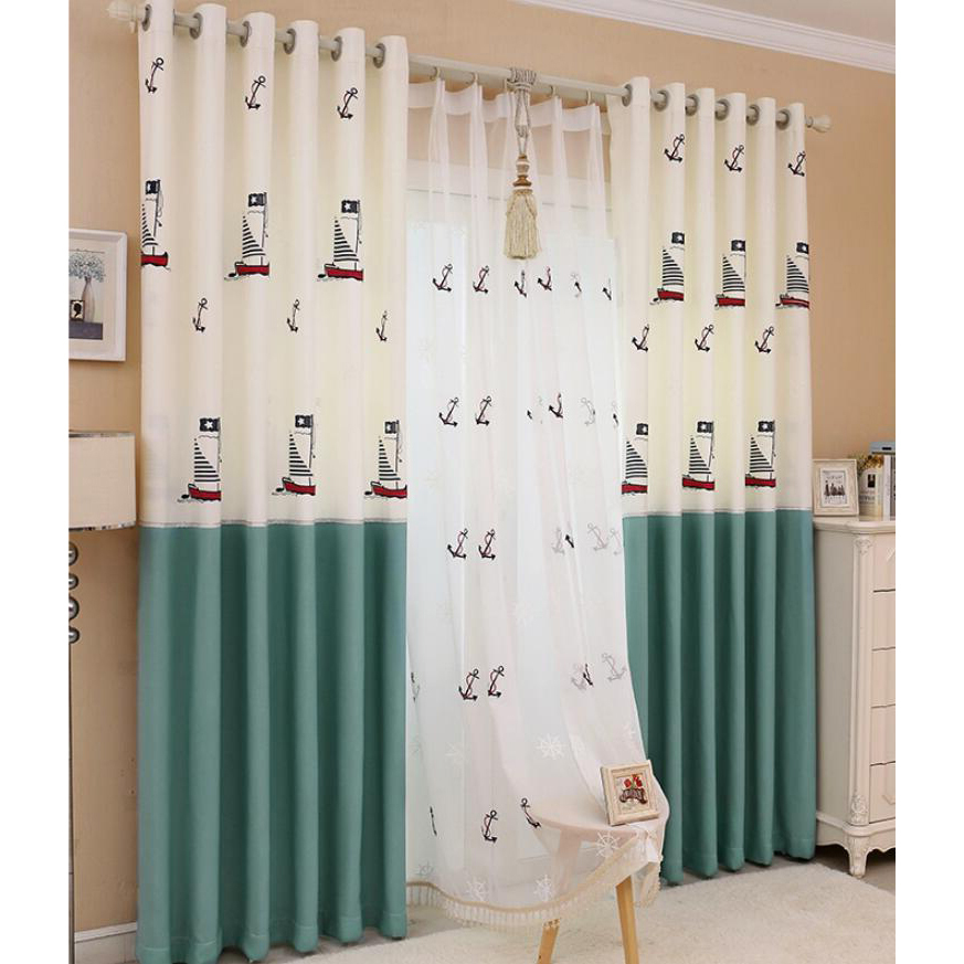 green and white nautical curtains for boys bedroom ZTWPUWO
