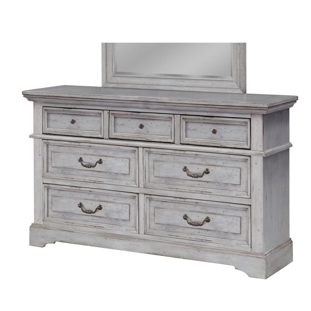 grey dressers american woodcrafters stonebrook 7-drawer antique grey dresser OZYGRFT