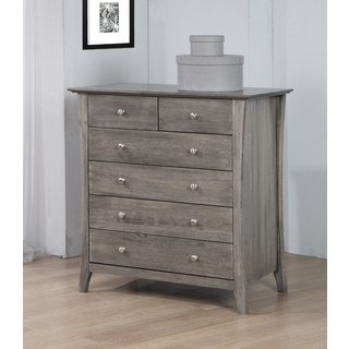 grey dressers copper grove vermont stone dark burnt grey 6-drawer chest RKJCOQA