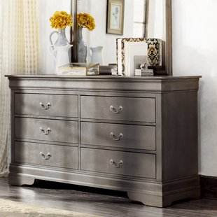 grey dressers lisle 6 drawer double dresser ZQEOHHX