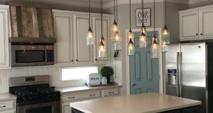 hanging kitchen lights hi all! updated pics @ourfauxfarmhouse on ig. come follow! thanks! {holly} GZVKWIU