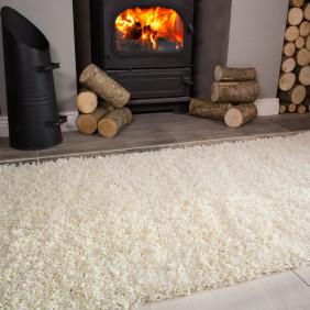 hearth rug cream shaggy fireplace rug ontario SWZUXUB