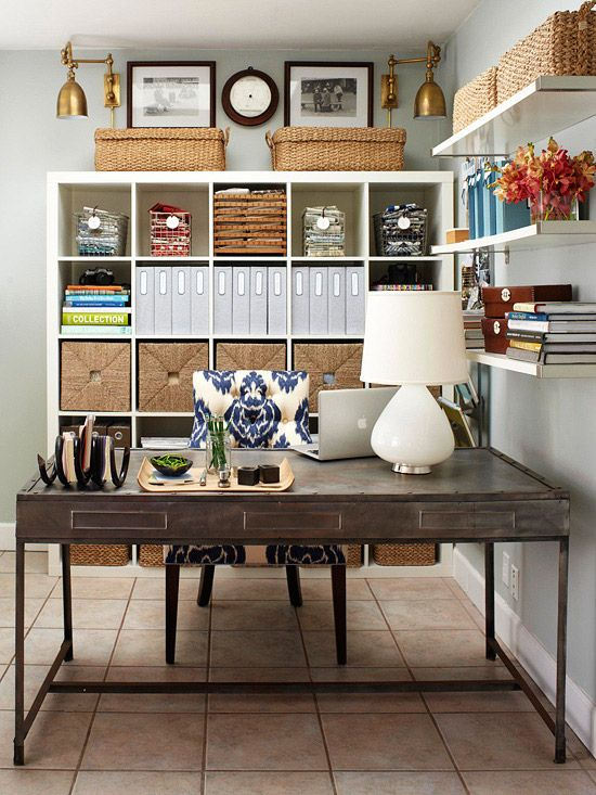 home office decorating ıdeas we love this perfect office setup! more organization solutions: http://www GEURCGO