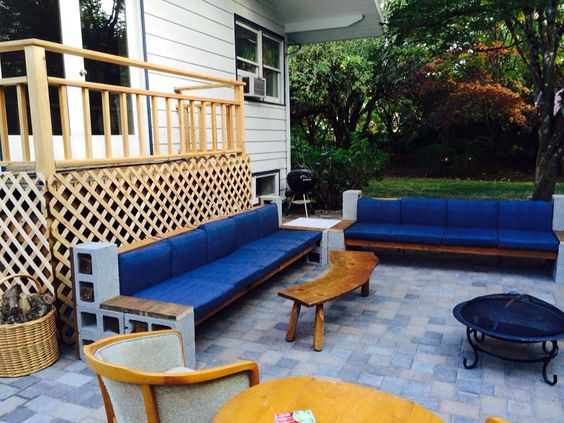 how to make a cinder block bench: 10 amazing ideas to QRCGOLJ