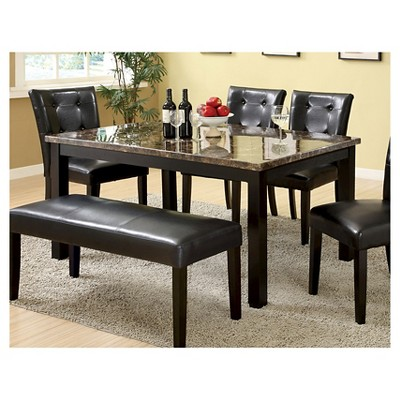 iohomes faux marble dining table wood/black : target XQHRLSE
