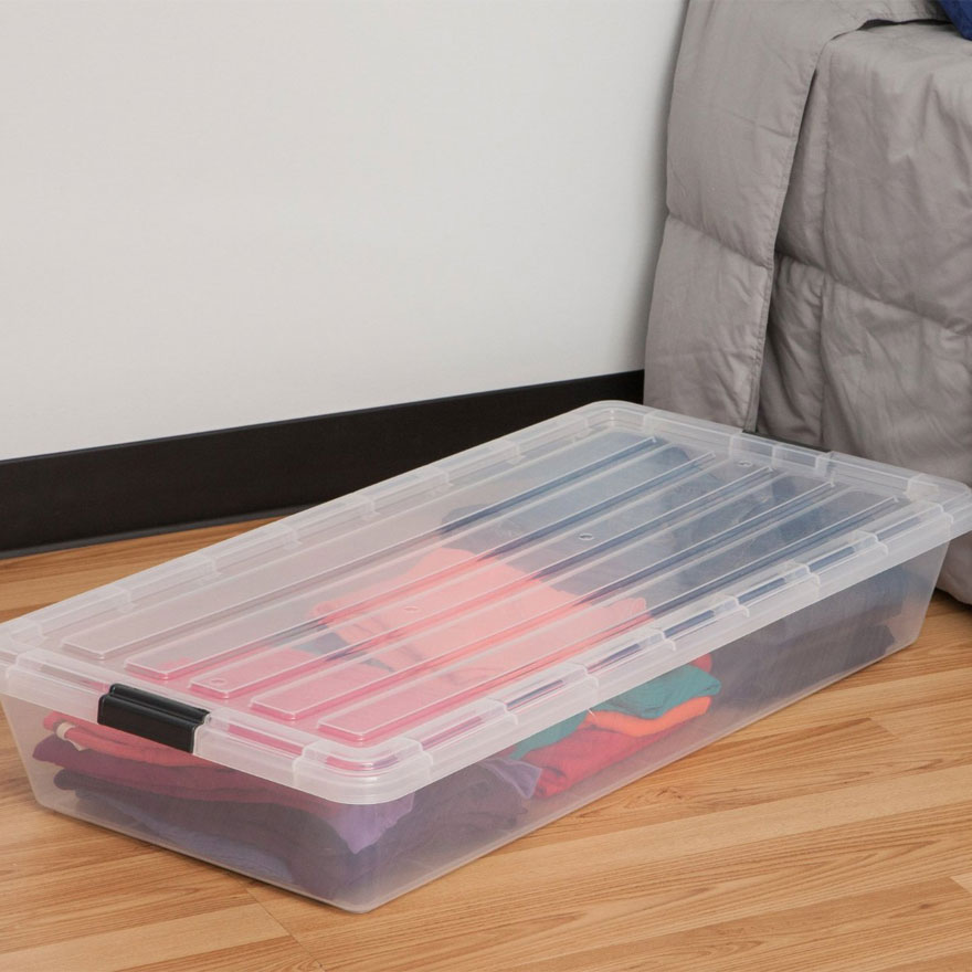 iris clear underbed storage container in under bed storage SDMRGHX