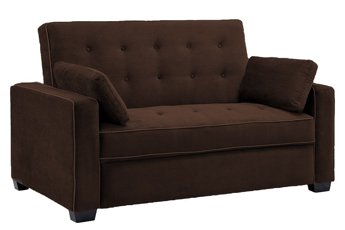 jacksonville_modern_convertible_futon_sofa_bed_sleeper_chocolate brown sofa  bed futon couch ICRUUYL