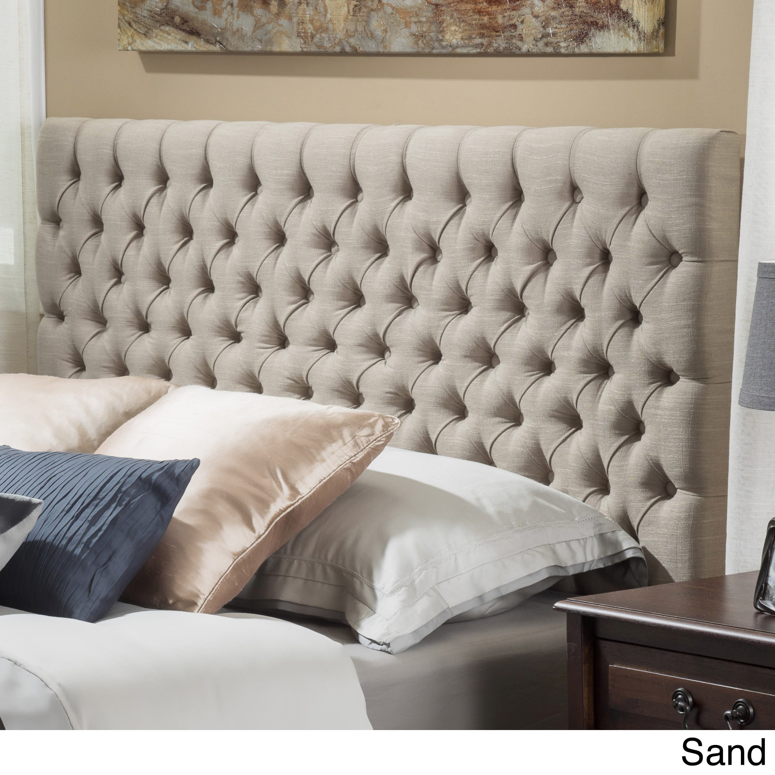 jezebel adjustable full/ queen button tufted headboard by christopher  knight YUEQHTF