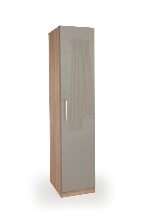 kenzy gloss grey u0026 oak 1 door single wardrobe GICZWKV