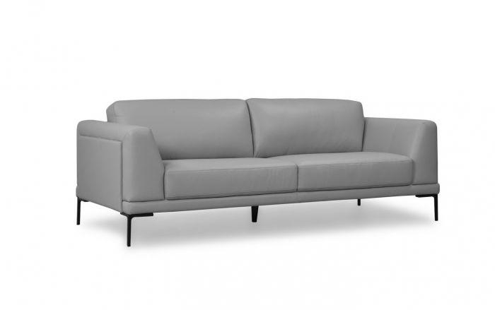 kerman full top grain leather contemporary sofa in light grey by KJBDJGD