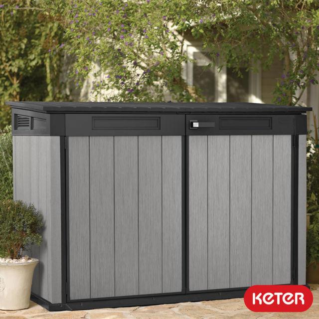 keter grande-store storage horizontal shed garden storage bin storage new BWTJQFD