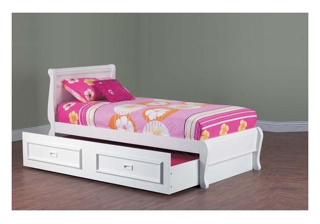 kids bed copenhagen timber storage trundle bed frame VPCKRPO