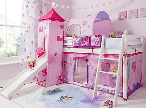 kids bed image is loading cabin-bed-mid-sleeper-pine-kids-bed-with- MCBKPQW