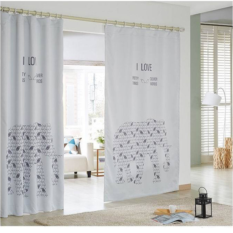 kids blackout curtains 2015 new kids room blackout curtains for children 3d white elephant AWJEIKW