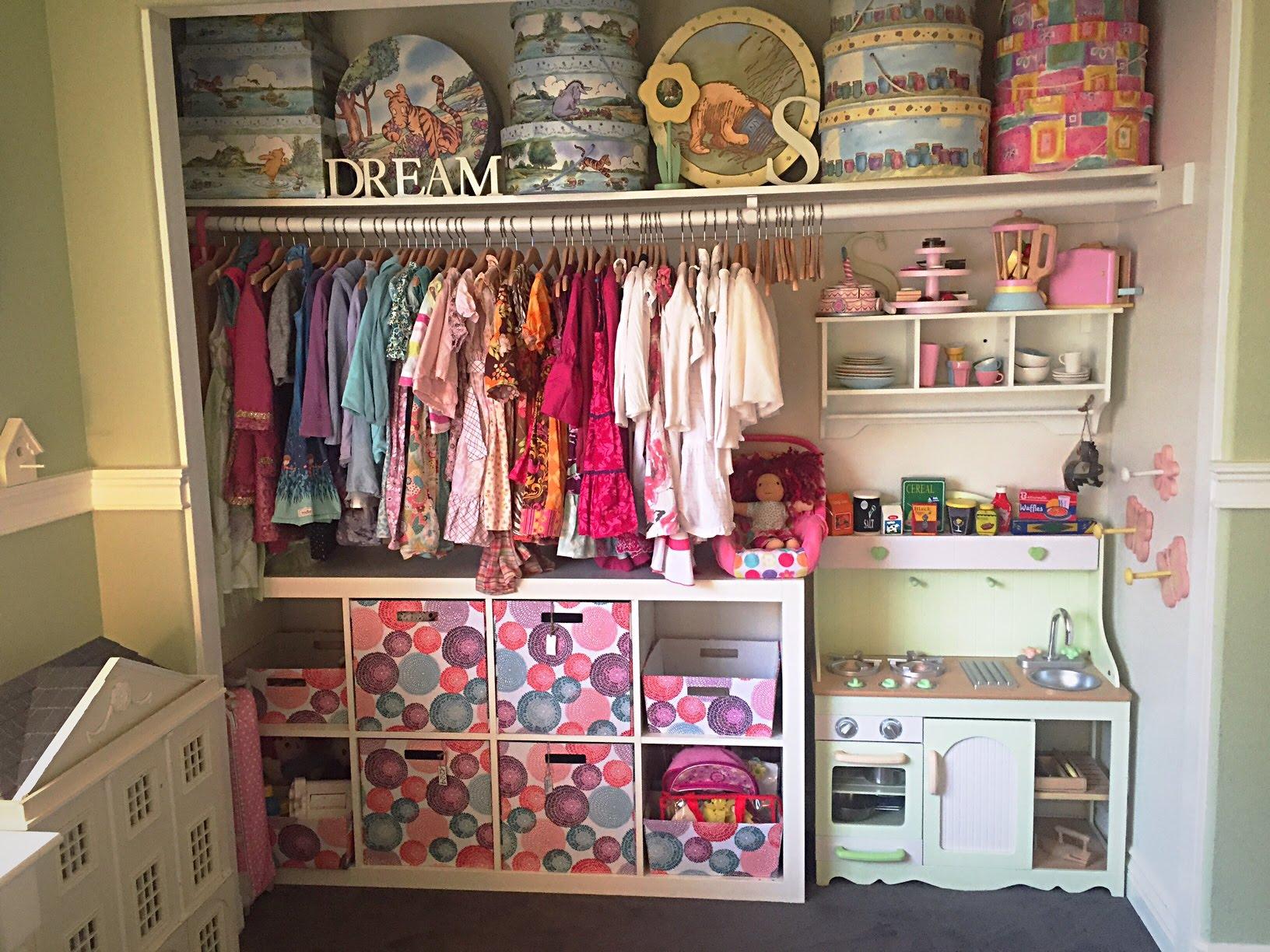 Choosing the kids closet