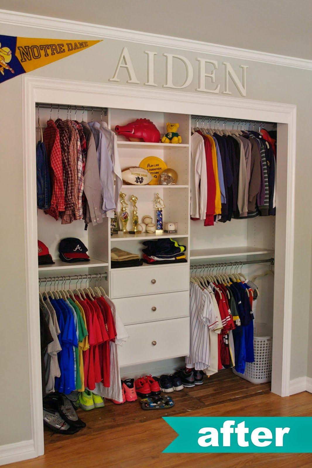 kids closet organization ideas. love name up top. HKFBMDG